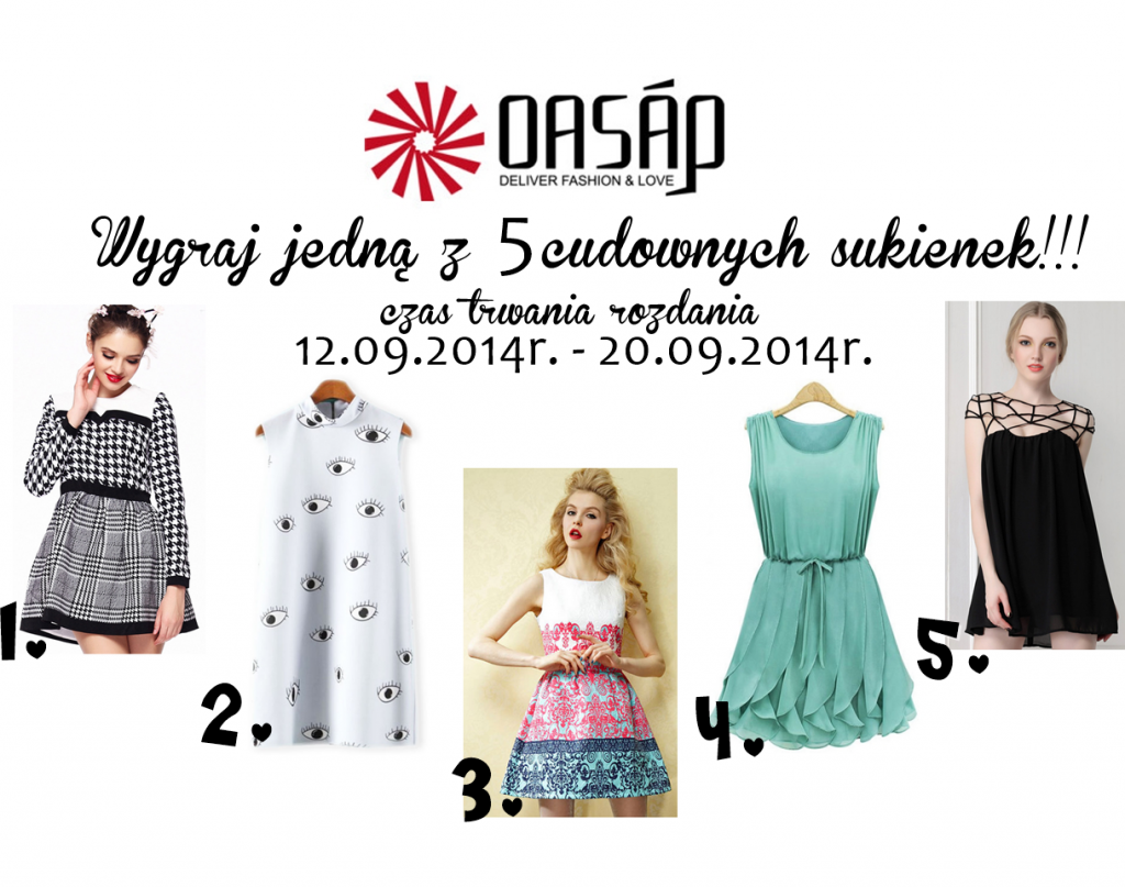 Oasap Giveaway World Fashion Style Eve